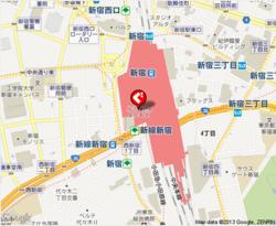 お菓子の国のアリスカフェ 新宿ミロード店の地図