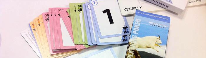 これが実際のPlanning Pokerです。アメリカのMountain Goat社が企画発売し、ライセンスしています。