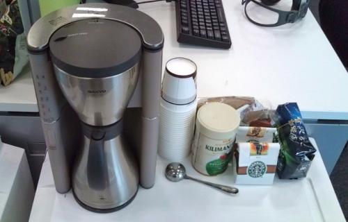 図2 導入されたコーヒーメーカー