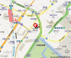YAKINIKU TORAJI PARAM カレッタ汐留店の地図